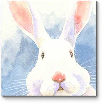 Модульная картина Акварельный кролик