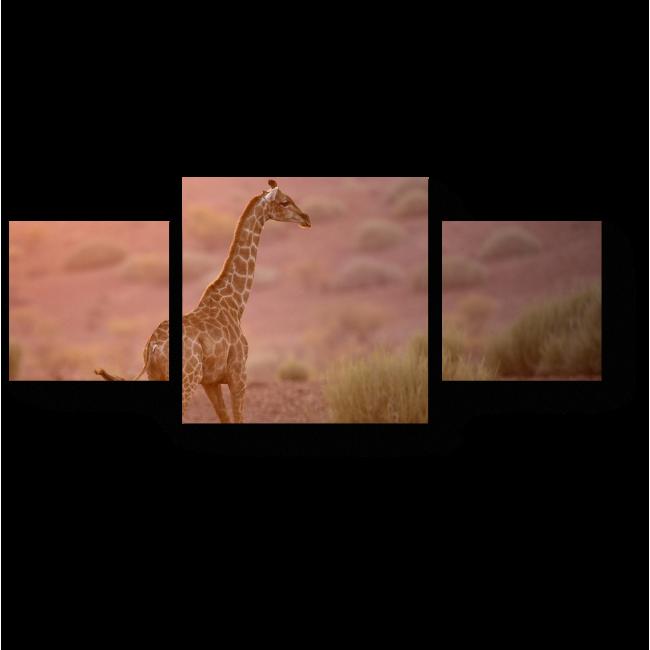 Модульная картина Одинокий жираф