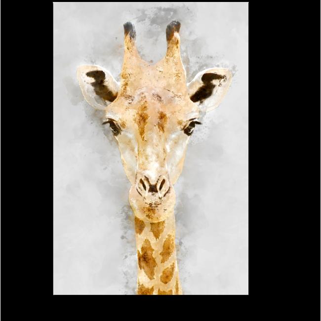 Модульная картина Акварельный жираф