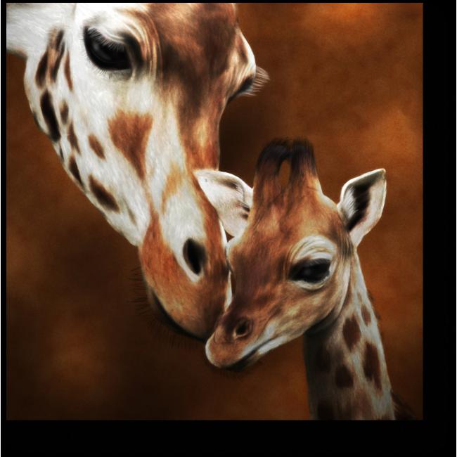 Модульная картина Мама и детеныш
