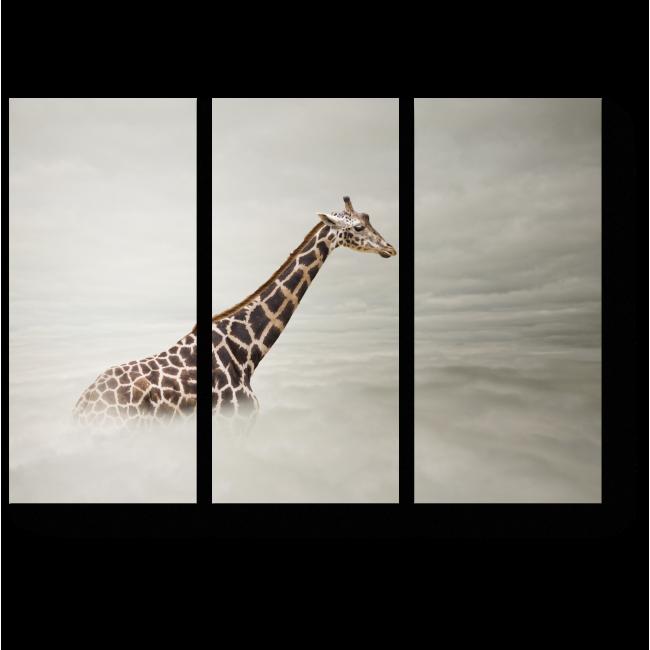 Модульная картина Жираф в тумане