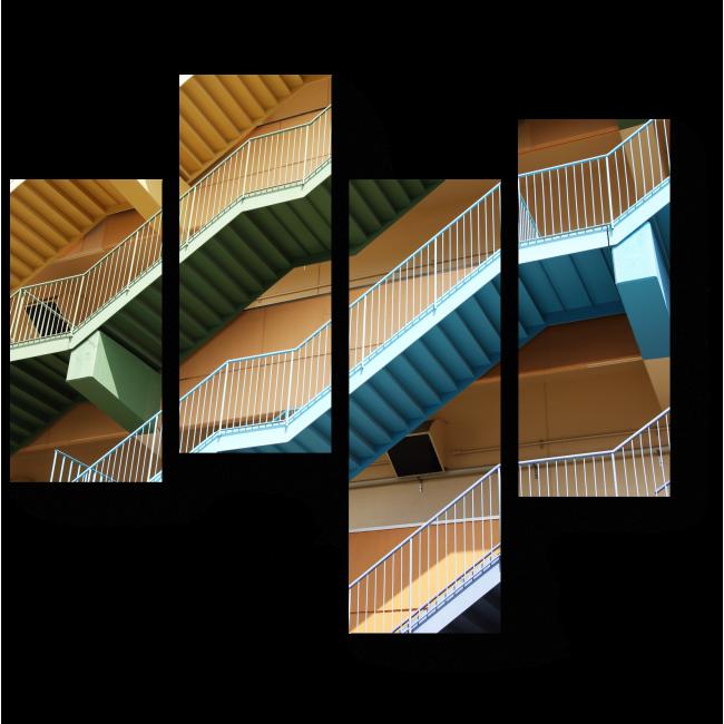 Модульная картина Цветные лестницы