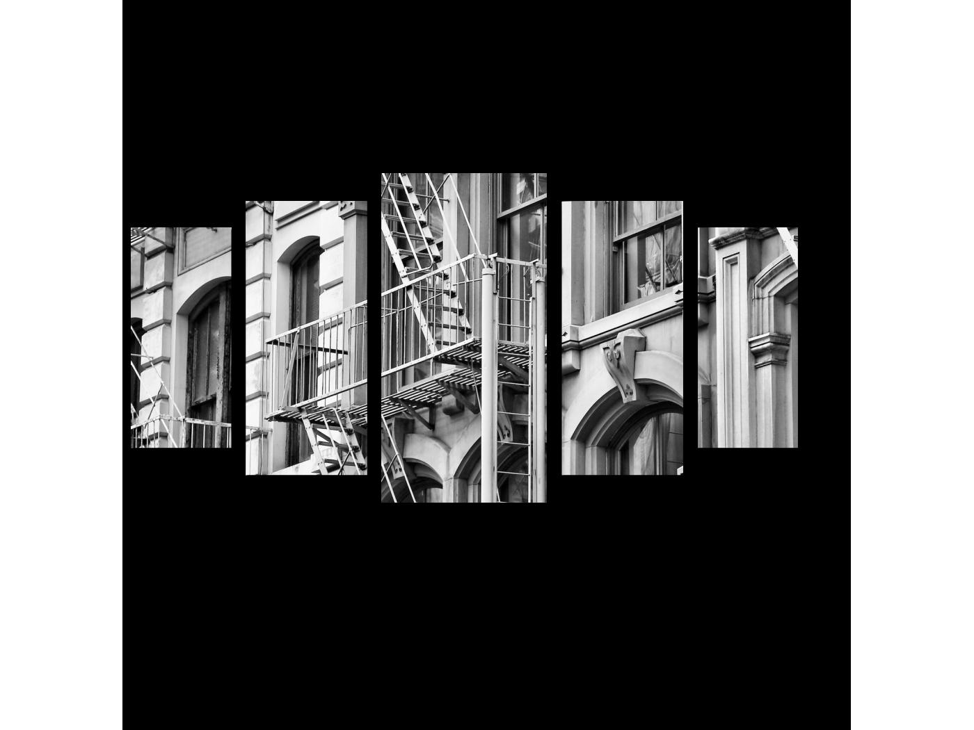 Модульная картина Современные постройки (100x55) фото