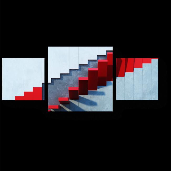 Модульная картина Красная лестница