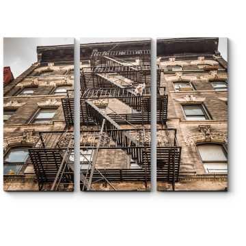 Пожарная лестница в Нью-Йорке