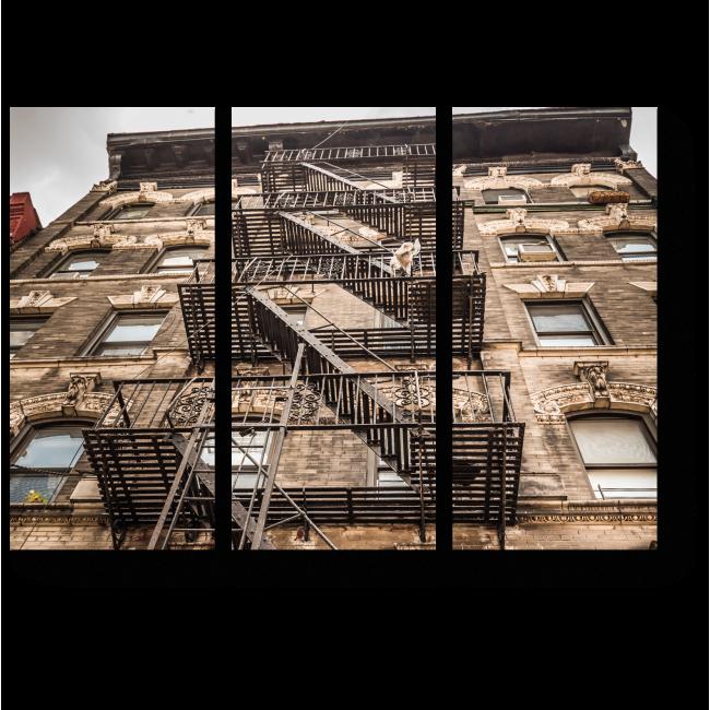Модульная картина Пожарная лестница в Нью-Йорке