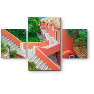 Греческая диагональная лестница