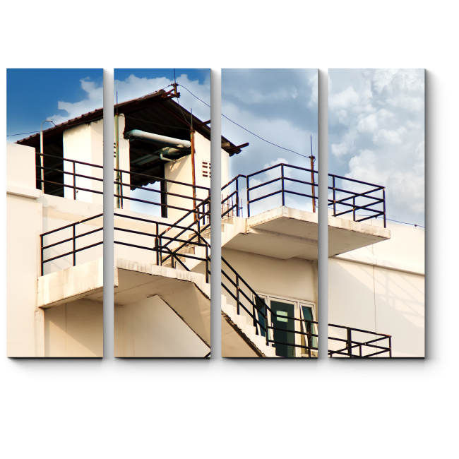 Модульная картина Пожарная лестница