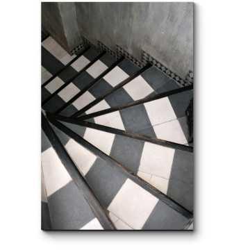 Черно-белая лестница