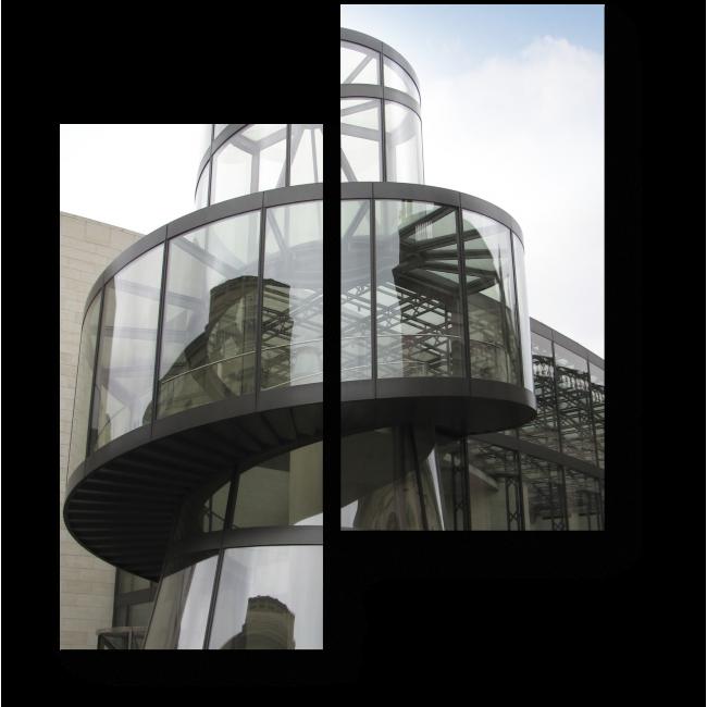 Модульная картина Лестница за стеклом