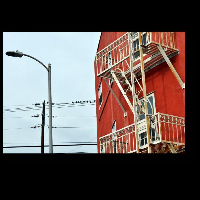 Модульная картина Здание с пожарной лестницей