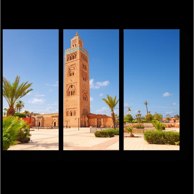 Модульная картина Марокканская башня
