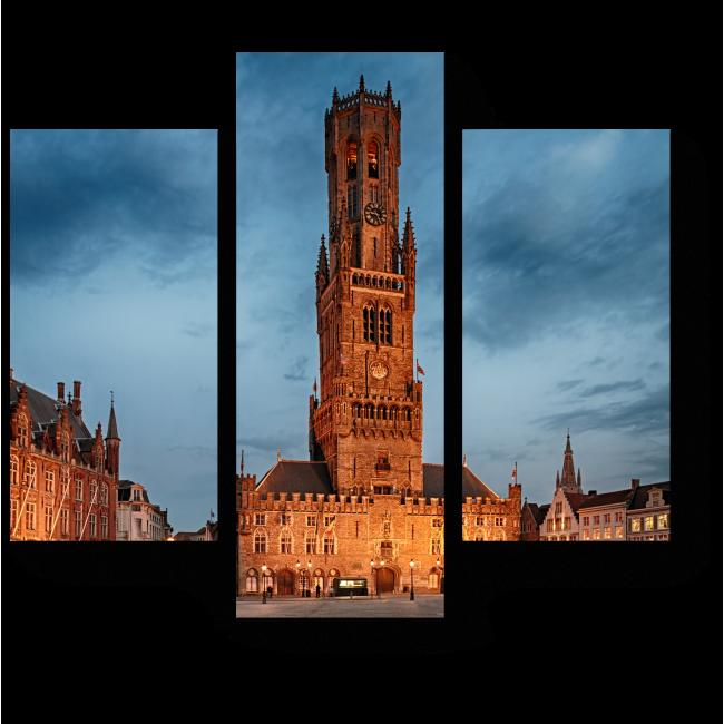Модульная картина Старый замок с башней