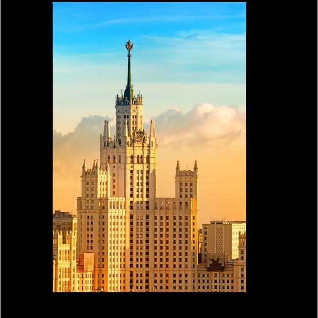 Модульная картина В центре столицы