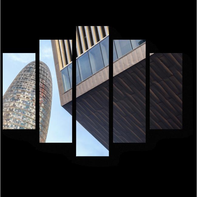 Модульная картина Современные небоскребы