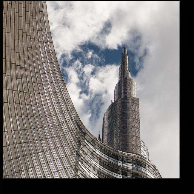 Модульная картина Современные небоскребы на фоне неба