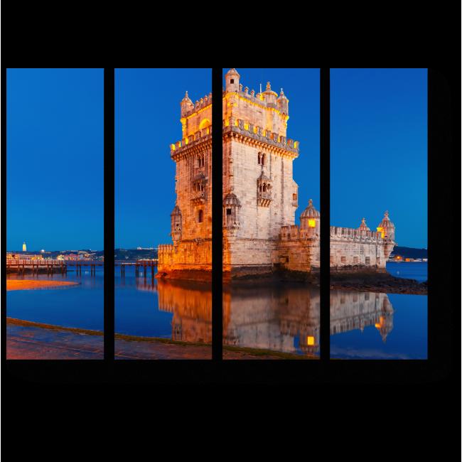 Модульная картина Башня Сент-Винсент в Португалии