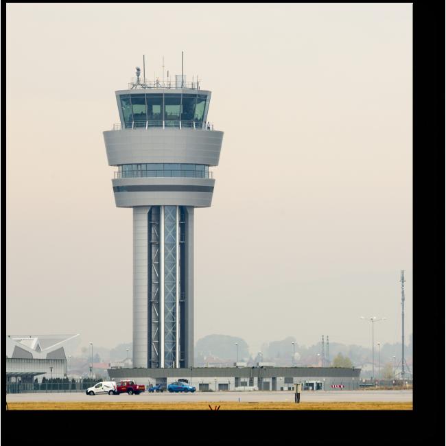 Модульная картина Командно-диспетчерский пункт аэропорта в Софии