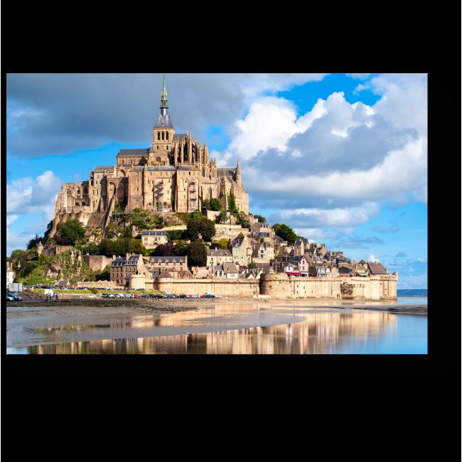 Модульная картина Мон-Сен-Мишель во Франции