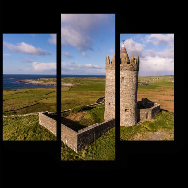 Модульная картина Башня замка в Ирландии
