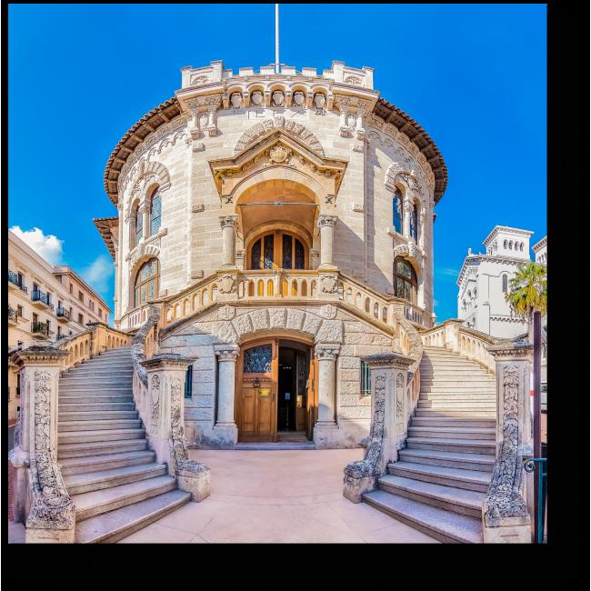 Модульная картина Национальный суд страны Монако