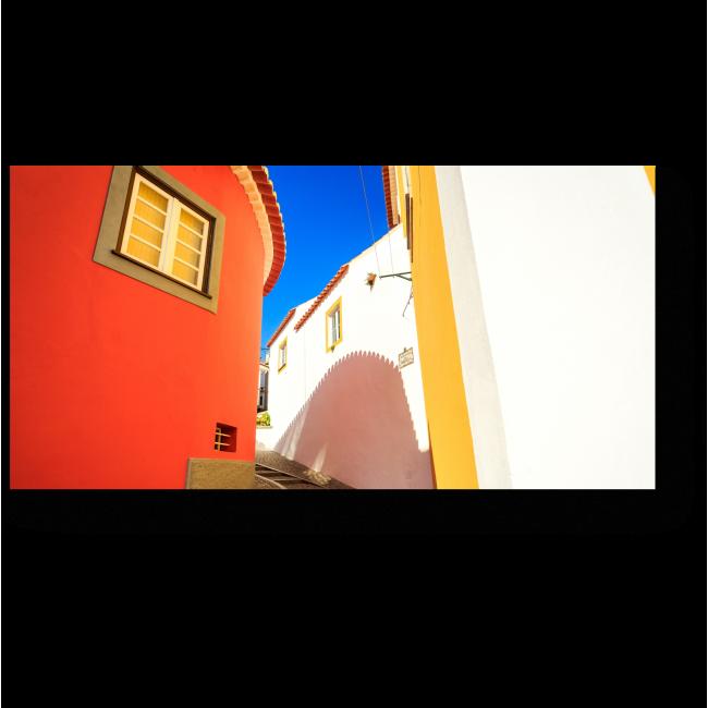 Модульная картина Очаровательная Южная улица в Португалии
