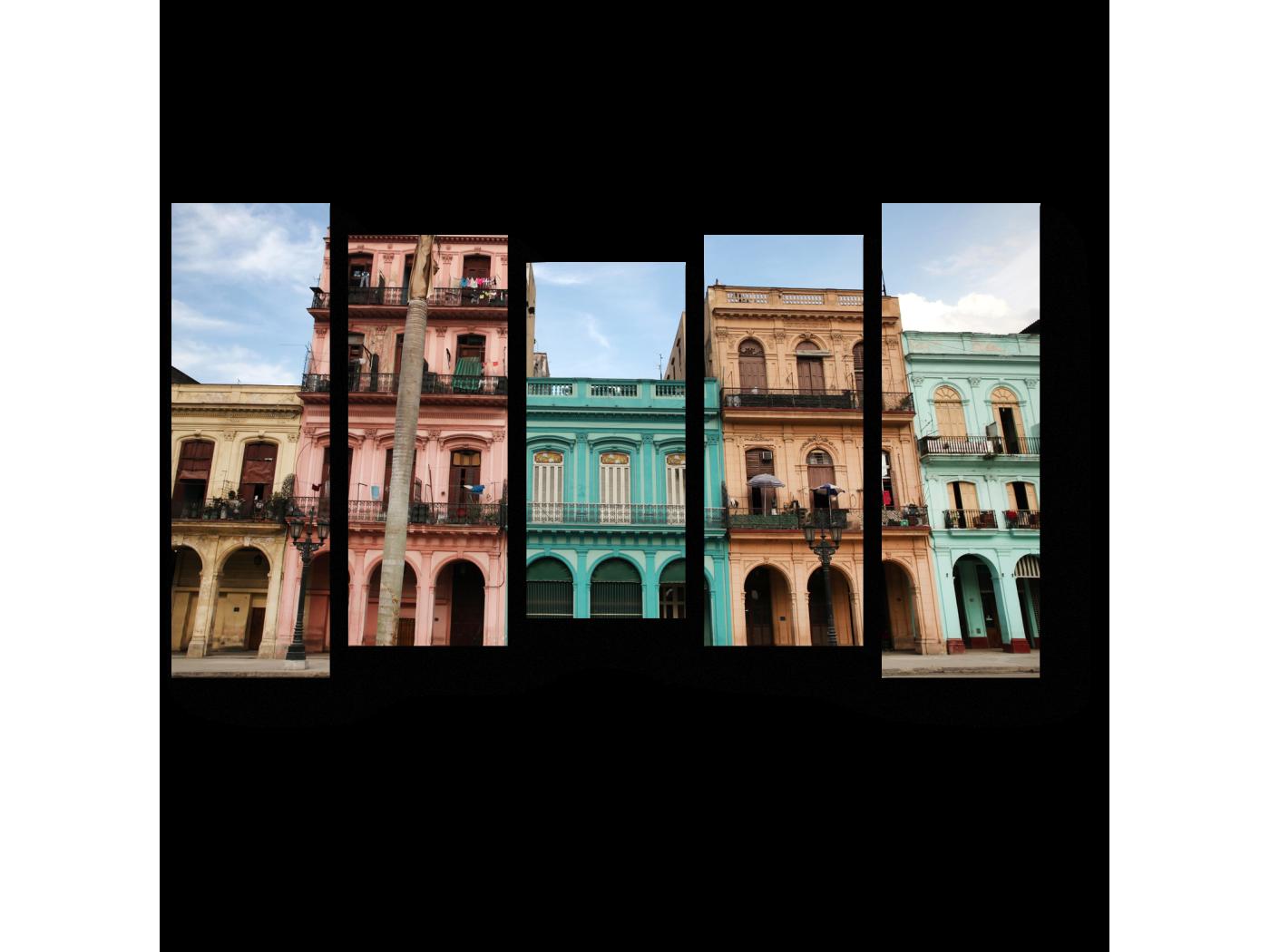 Модульная картина Архитектура на Пасео дель Прадо (90x54) фото
