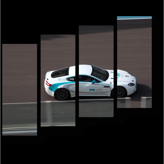 Модульная картина Астон-Мартин в гонке