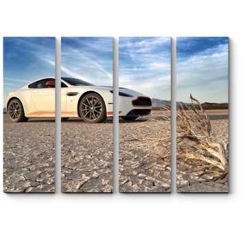 Модульная картина Aston-Martin в пустыни