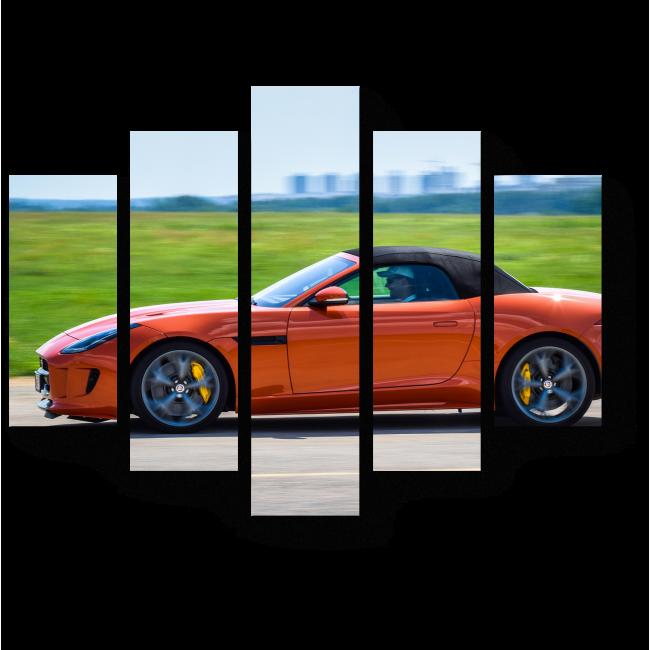 Модульная картина  Ягуар F-Тип 5.0