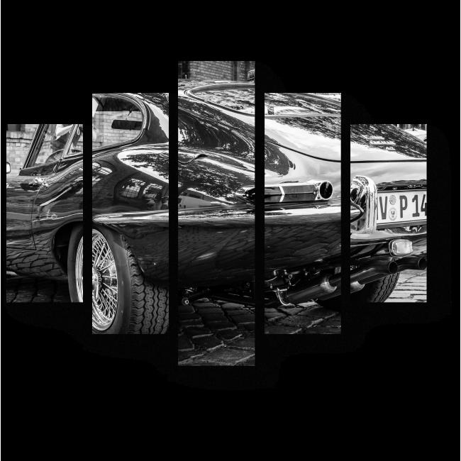 Модульная картина Jaguar E-Type 4.2