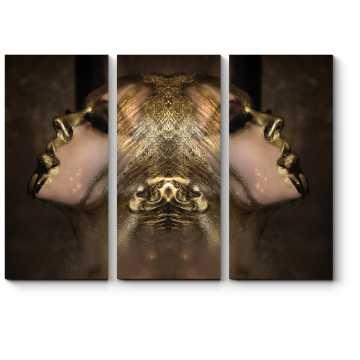 Модульная картина Золотая симметрия