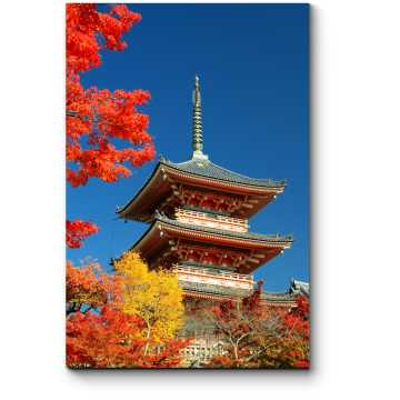 Модульная картина Осень в японском стиле