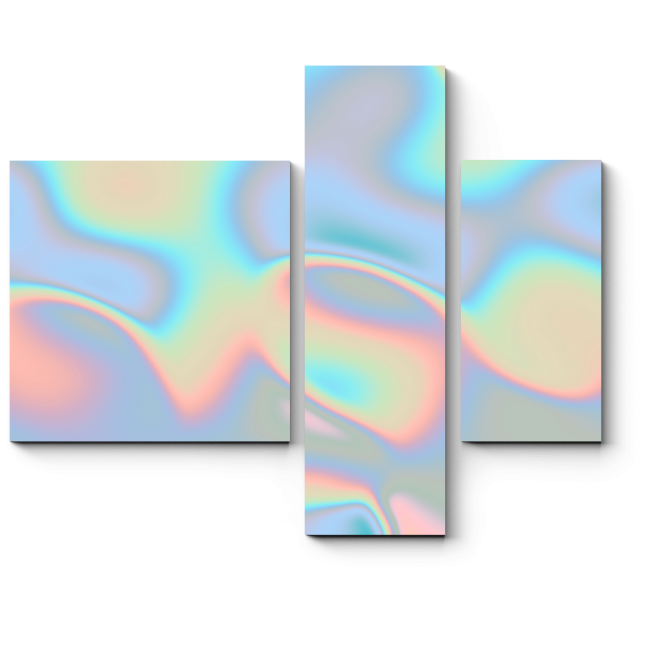 Модульная картина Голографический голубой