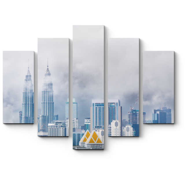 Модульная картина Туман над блистательным Куала-Лумпур