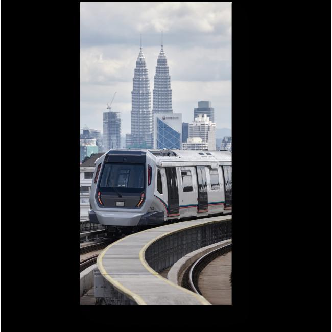 Модульная картина Надземный поезд в Куала-Лумпур
