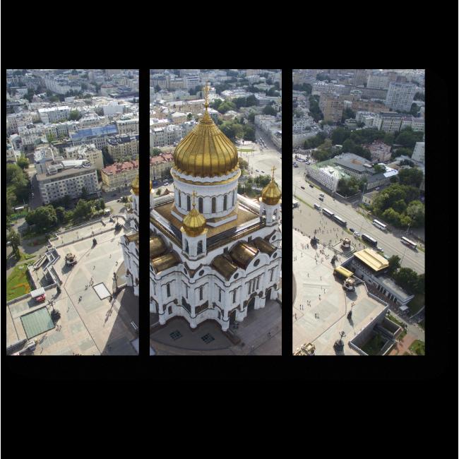 Модульная картина Священный Храм в сердце столицы