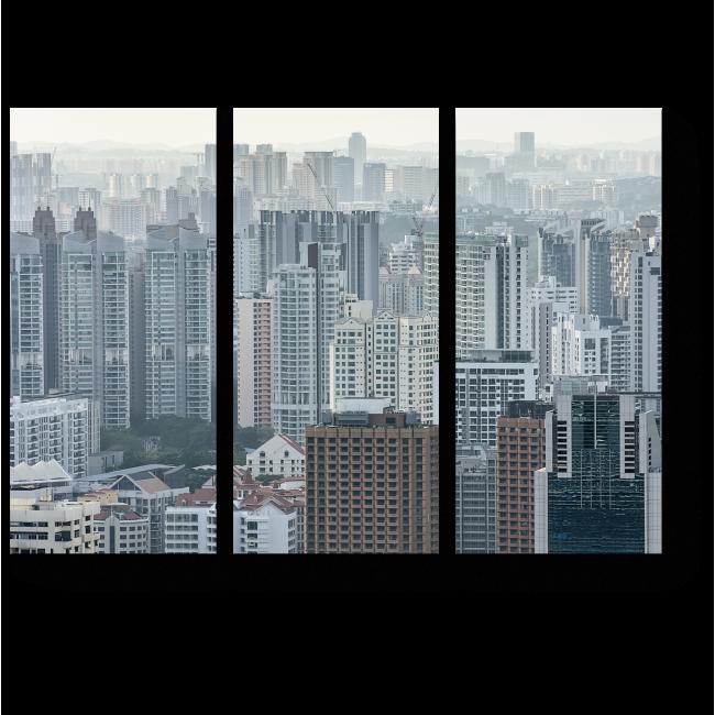 Модульная картина Загадочный Сингапур