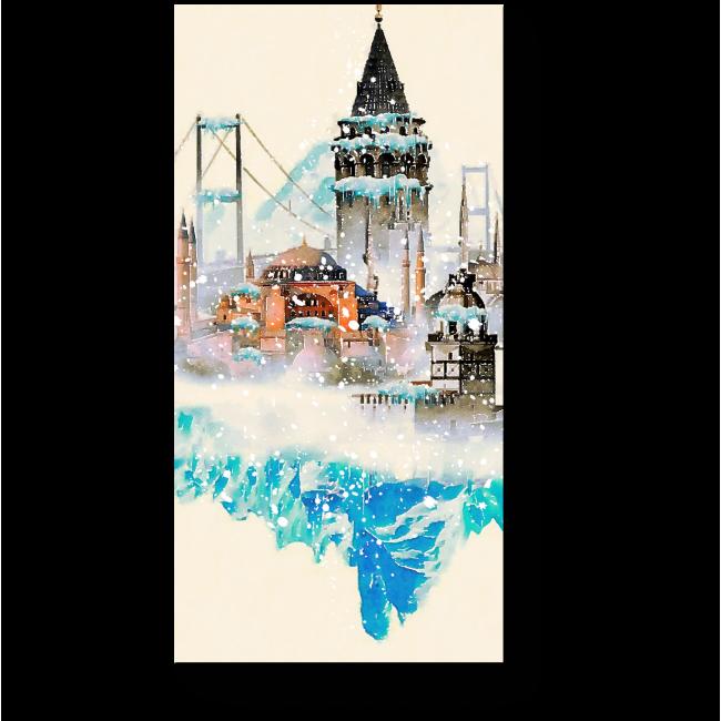 Модульная картина Привет из зимнего Стамбула