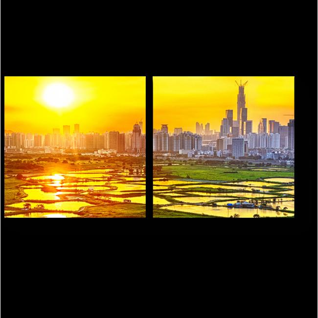 Модульная картина Рисовые поля Гонконга