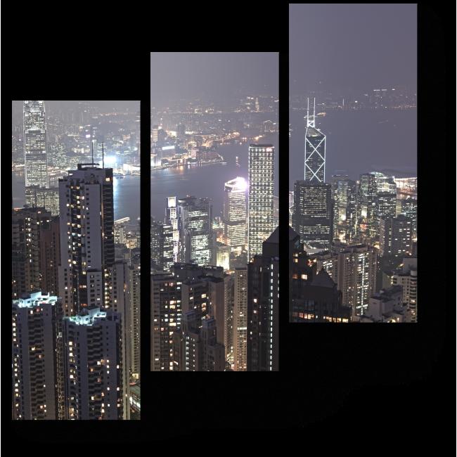 Модульная картина Ночные огни города