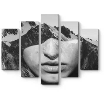 Модульная картина Все мысли о горах