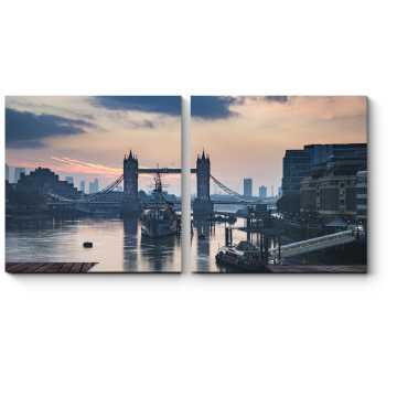 Модульная картина Лондон, сошедший со страницы книги