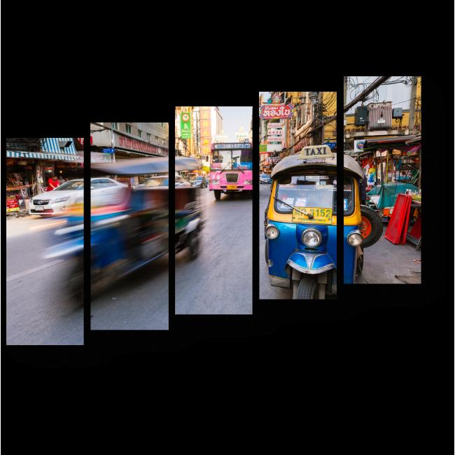 Модульная картина Невероятно динамичный Бангкок