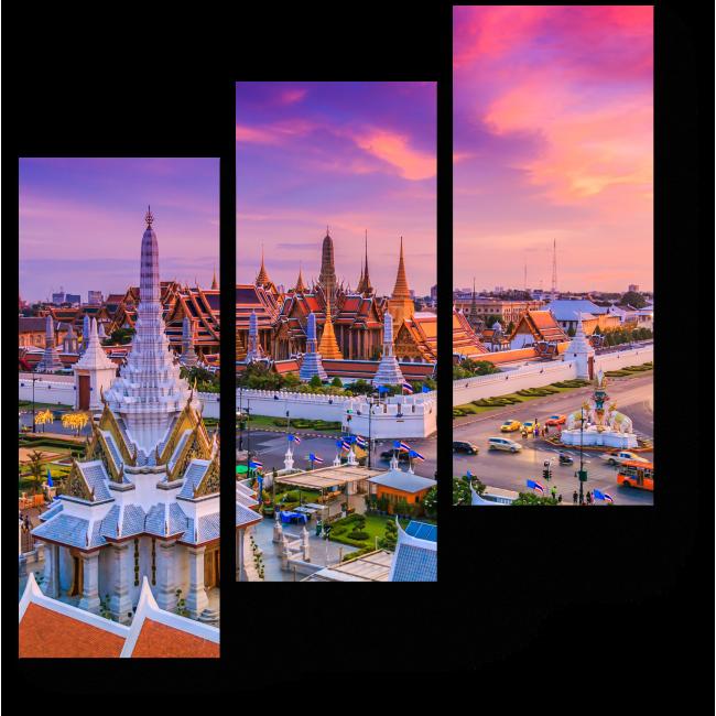 Модульная картина Сердце Бангкока бьется здесь
