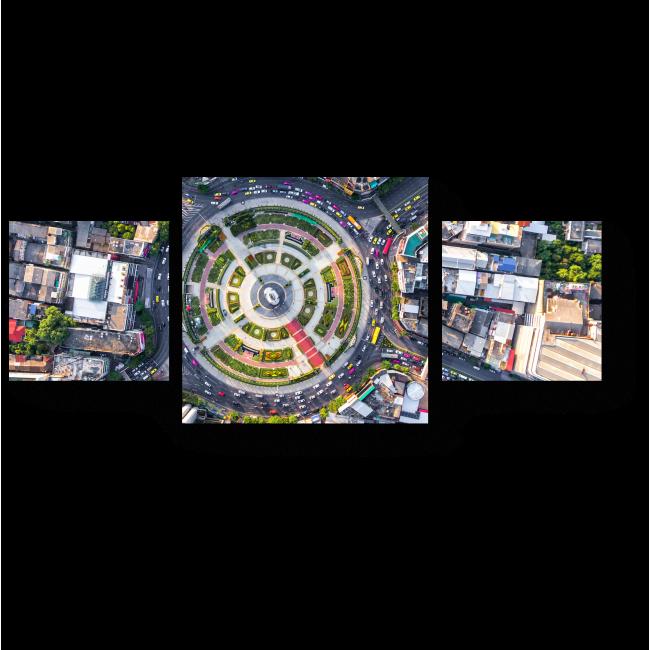 Модульная картина Вонгвиан-Яй с высоты птичьего полета
