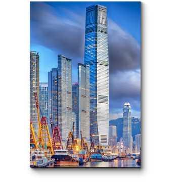 Небоскребы Гонконга на закате