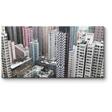 Модульная картина Спальный район Гонконга