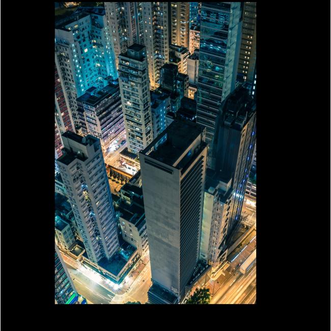 Модульная картина Гонконг с высоты птичьего полета