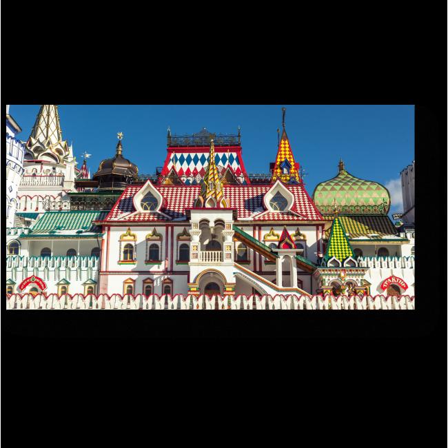 Модульная картина Измайловский Кремль в лучах солнца